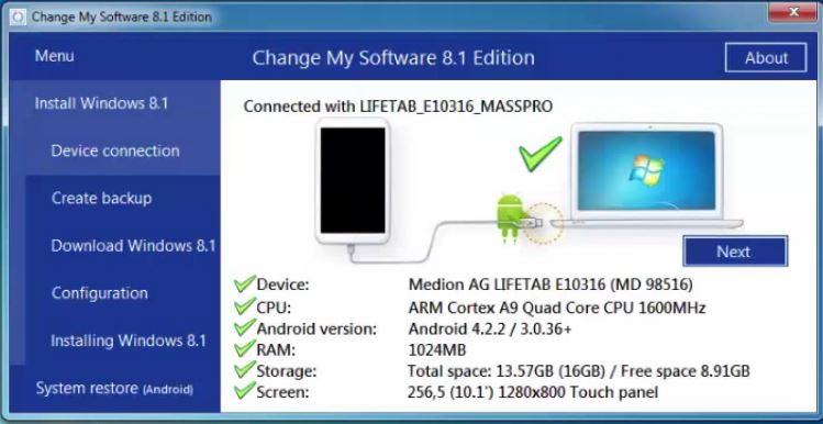 change my software 8.1 edition free download